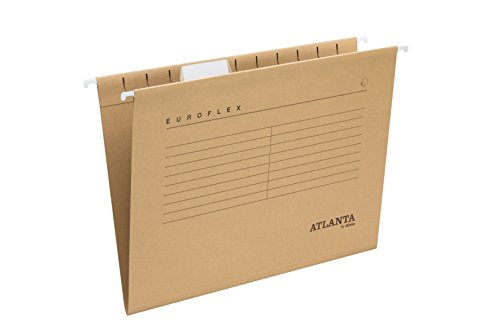 Jalema 2652742700 - Cartellina sospesa Euroflex formato A4, confezione da 25 pezzi, colore: Marrone