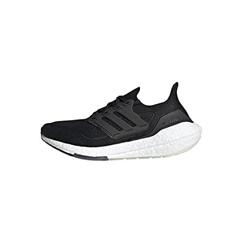 adidas Women's Ultraboost 21 Running Shoe, Black/Black/Grey, 7