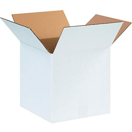 Aviditi 121212W Corrugated Box, 12' Length x 12' Width x 12' Height, White (Bundle of 25)
