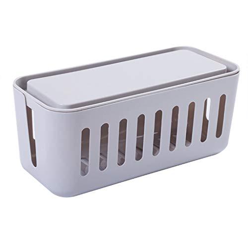 HUIJUTB La Caja de Conexiones de Potencia, la Caja de administración del Organizador del Cable del Marco del Alambre del Adaptador del Cargador Puede Proteger a los niños y Mascotas del daño,Gris