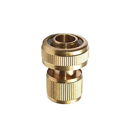 "EDUARD - 3/4"" hose Quick Connector Brass waterstop Connector Garden tap Garden 20mm hose Connector Pure copper Adapter 1pcs"