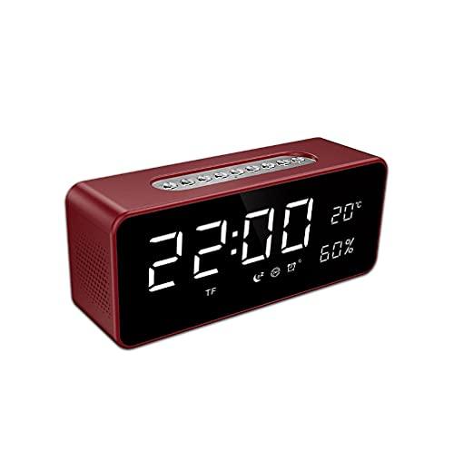 SMSOM Radio de Reloj de Alarma Digital, con 4 Brillo Ajustable, Radio...