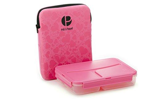 Life Story PRET a Paquet Bento Lunchbox für Kinder/Erwachsene, Brotdose 3 Fächer, Hermetisch, Isolierte Tasche, Warme/Kalte Mahlzeiten, Mikrowelle, Geschirrspüler, Gefrierschrank, BPA frei