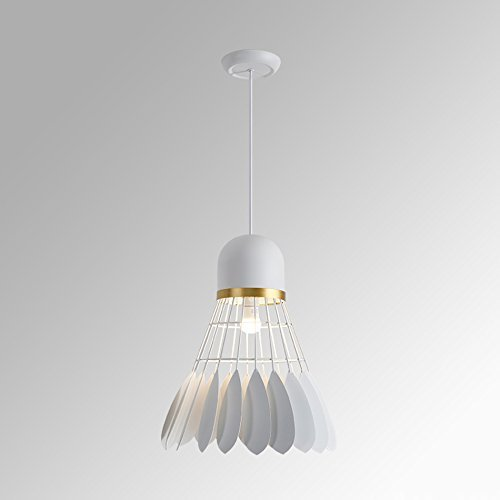 Candelabros LED modernos, iluminación de techo interior Candelabros de hierro de bádminton, candelabro LED nórdico, luz colgante moderna y sencilla para cafetería, restaurante, sala de estar (Color: