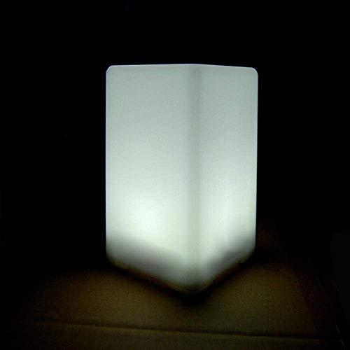 Lámpara de escritorio Lámpara de escritorio LED de cubo moderna, elegante y simple, luz de noche LED de cubo con dise?o de forma de cubo, ABS hecha de lámparas para dormitorio, escritorio, bar, bar, f