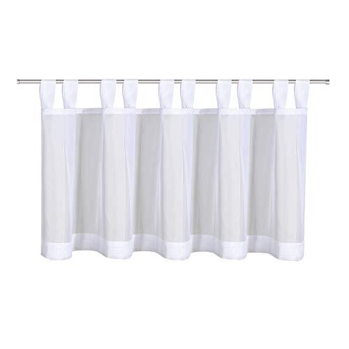 Happy Home - Tenda a Pannello Torcino, 145 x 50 cm, Colore: Bianco