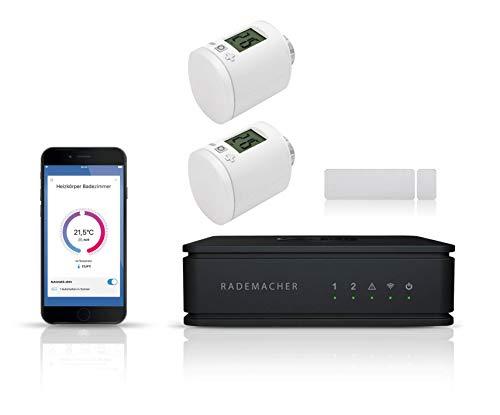 RADEMACHER HomePilot Starterset Heizen | HomePilot Steuerzentrale inkl. 2x DuoFern Heizkörperstellantriebe und 1x Fenster-/Türkontakt | SmartHome Starterpaket Energie sparen