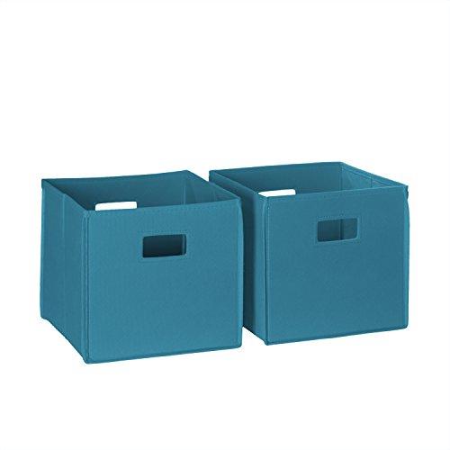 RiverRidge Home Storage Set Folding Bin Turquoise