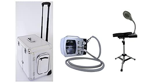Fußpflege-Erstausstattung Set Nr 4 Gerät Ecomonium Plus Nasstechnik bis ca. 40.000 U/min, Fusspflegekoffer, Fusspflege Koffer, Beinstützen Set Koffer