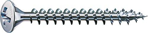 SPAX Universalschraube, 3,5 x 15 mm, 1000 Stück, Kreuzschlitz Z2, Linsensenkkopf, Vollgewinde, 4CUT, WIROX A3J, 0241010350155