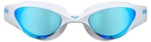 ARENA Unisex – Erwachsene Schwimmbrille The One Mirror, Blue-White-Black, TU