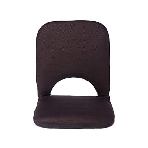 MYF&GBB Tragbarer kreativer Klappstuhl, Rückenlehne, bequemer gepolsterter Klappsitz - Verwendung als Spielstuhl, Meditationsstuhl oder Yoga oder Camping,Brown