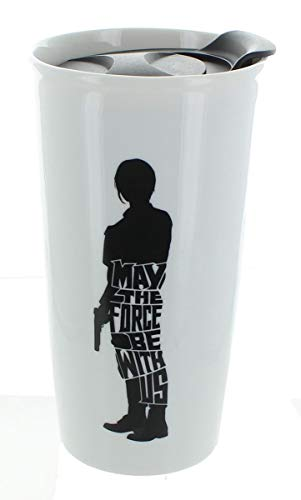 """Star Wars Jyn Erso """"May The Force Be With Us"""" 12oz Ceramic Travel Mug"""