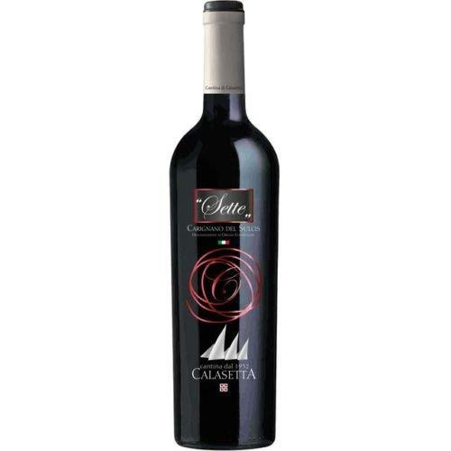 """Calasetta""""Sette"""" Carignano del Sulcis DOC 75 cl x6 bottiglie"""