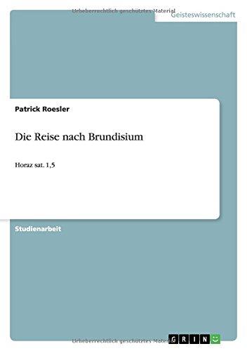 Die Reise nach Brundisium (German Edition)