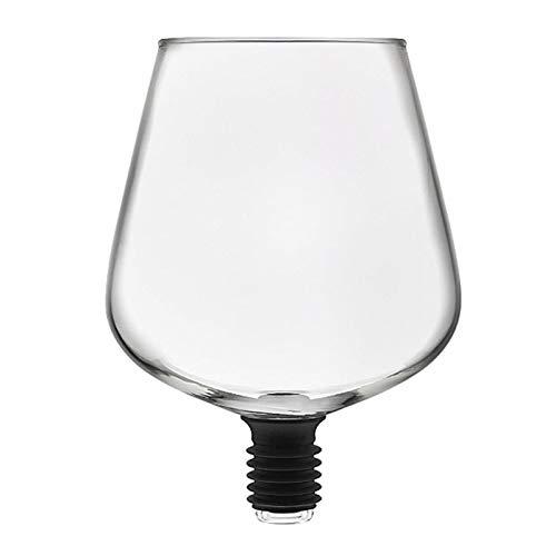 YJLLOVE YANGJIAOLIAN Transparente Directo a Beber Vino Decantador Copa de Vidrio Embalada en la Botella de Vino Stopper Bar Herramientas (Color : Clear)