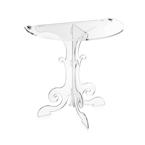 iPLEX - Anfitrione Comodino Consolle da Muro Design fine '700 in plexiglass Trasparente Dim. 50,5x50x30 cm Made in Italy