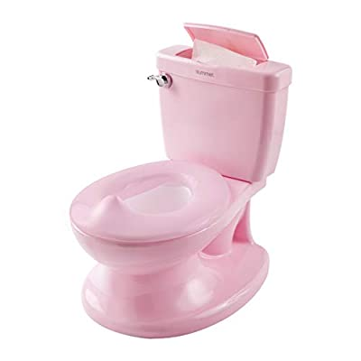 Summer My Size Potty, Pink – Realistic Potty Training Toilet Looks and Feels Like an Adult Toilet – Easy to Empty and Clean by Summer Infant