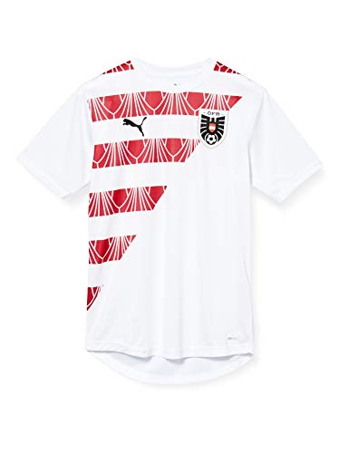 PUMA Öfb Stadium Jersey Camiseta, Hombre, White-Chili Pepper, M