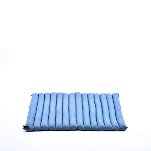 Leewadee Zabuton - Tapis Zabuton Traditionnel Enroulable et Fait à la Main, Yoga Mat épais rembourré en kapok, 69 x 78 cm, Anthracite