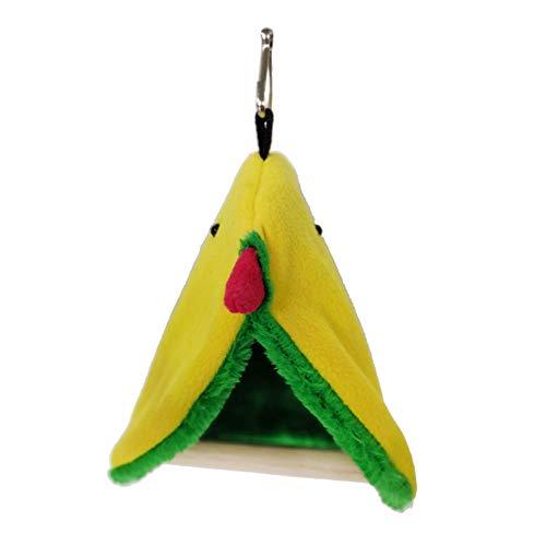 EMFGJ Nido de aves para loros de invierno cálido de peluche túnel de pájaro nido casa colgante tienda de campaña Loro hamaca jaula juguetes columpio bolsa de dormir estilo 2