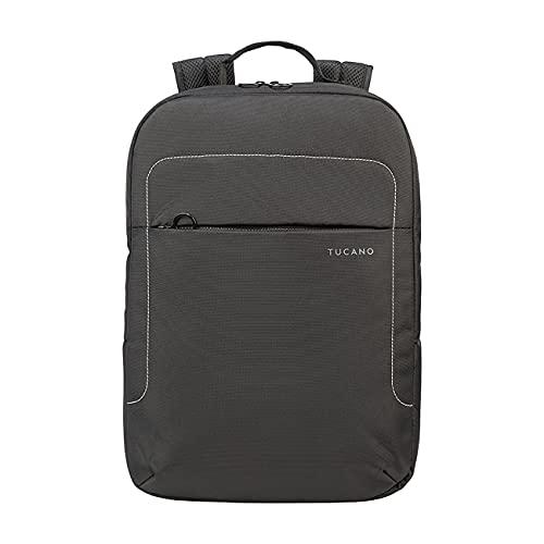 Tucano Lup - Zaino in Tessuto Tecnico per Notebook 15.6', MacBook PRO 16'. Tasca Interna Imbottita per Notebook, Tablet o iPad. Tasca di Sicurezza sullo Schienale.