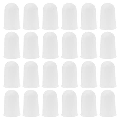 Scicalife 50 Piezas de Tapones para Lámpara de Tapones de Plástico para Quemador de Casquillo para Sombra de Lámpara Soporte para Laboratorio Aparatos de Laboratorio