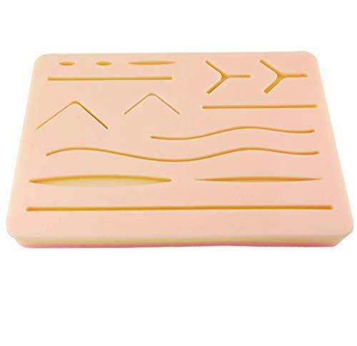 WNZL Formación de sutura Kit sutura Pad 6,7' x 4,7' con pre-heridas, suturas Pad práctica instrucción y Entrenamiento Uso Capa 3 - músculos, la Grasa y la Piel (Educación para Uso Exclusivo)