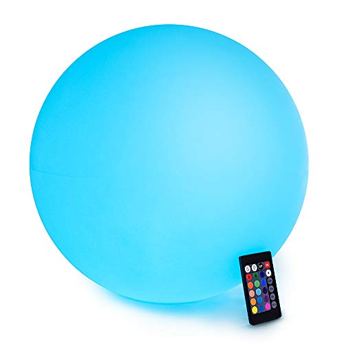 LOFTEK LED Light Ball : 16-inch RGB Colors Light Sphere with Remote Control, Cordless Floating Pool...