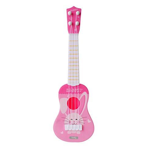 リトル ボーイズ ガールズ 誕生日 ギフト キッズ ミニ ギター ウクレレ 漫画 楽器 子供たち 教育 おもちゃをする (兎, 10.5cm * 36cm)