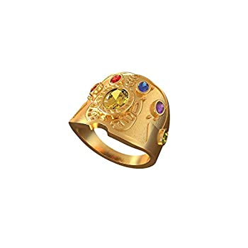 Infinity Gauntlet Ring Power Soul Stones Ring Golden Jewelry Cosplay Accessories Size 10