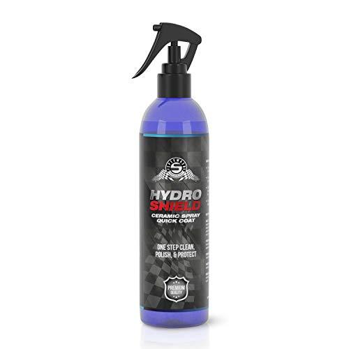 SpekWash HydroShield Ceramic Spray - Ceramic Coating - Top Coat Polish - SiO2 Quick Coat -Hydrophobic Polymer Paint Sealant Protection