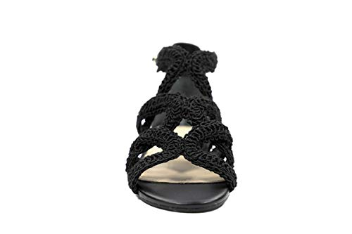 Guess - Sandalias de vestir de Piel Lisa para mujer, color Negro, talla 36 EU