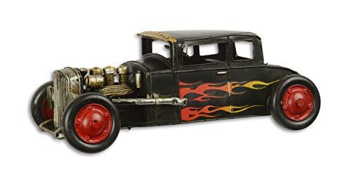 Deko Modell Hot Rod Auto Oldtimer Vintage Look 31,6 cm Blech