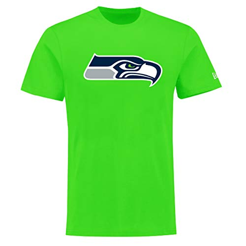 New Era Seattle Seahawks T Shirt Reverse Base Tee Green - M