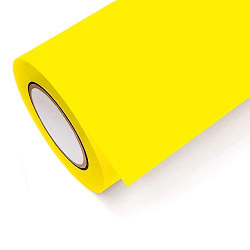 NEON Folie Oracal 6510 Fluorescent Cast - Klebefolie Möbel Folie Deko Folie Autofolie - Farbe Neon Gelb - 029 - Breite 1m - Rollenlänge 1m