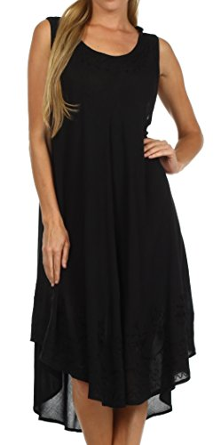 Sakkas 1051 Everyday Essentials Kaftan Kleid/Cover Up - Schwarz - One Size