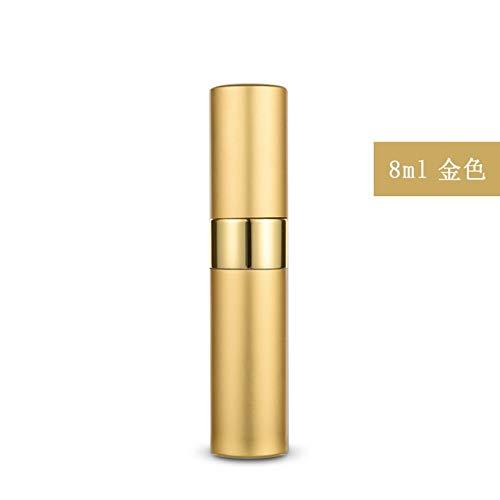 Bouteille de parfum en aluminium en aluminium vaporisateur or 8 ml