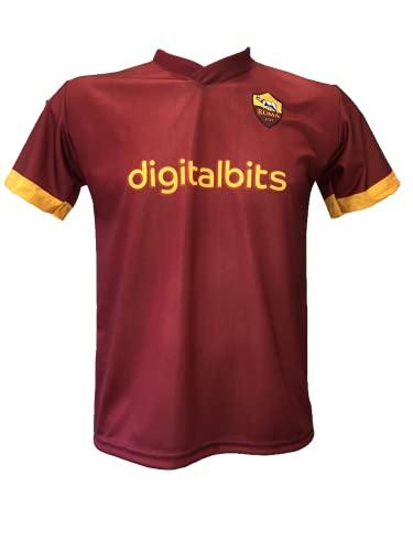 DND DI D'ANDOLFO CIRO Maglia Calcio A.S Roma Home Neutra o Personalizzata con Il Nome del Tuo Giocatore Preferito Stagione 2021/2022 Replica Autorizzata Taglie da Bambino e Adulto (S (Adulto))