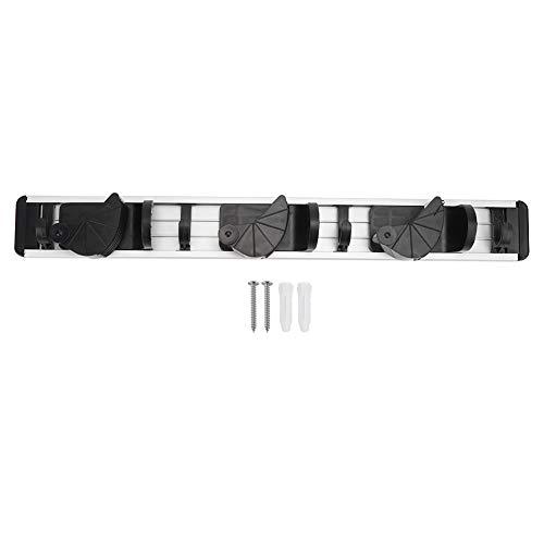 frenma Soporte para trapeador de Goma Antideslizante de Aluminio con diseño Impermeable, Soporte para trapeador para(C Type 3 Hanging 3 Hooks)