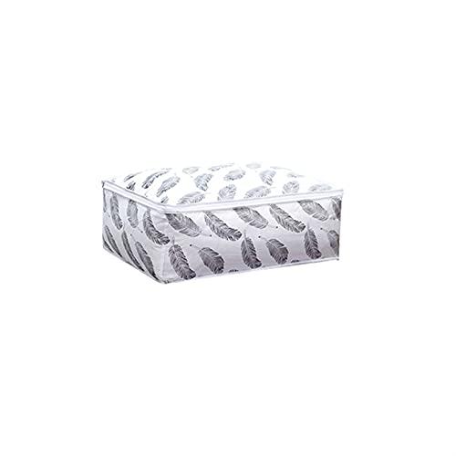 JKLJKL Ropa Organizador Bolsa de Almacenamiento Plegable Ventana Transparente Ropa Manta Edredón Armario Organizador Cajas (Color : 57x40x22cm G)