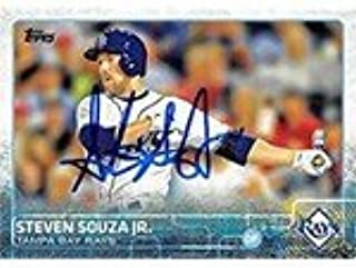 Autograph Warehouse 302295 2013 Steven Souza Jr. Autographed No.537 Baseball Card - Tampa Rays