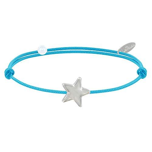 Joyas Les Poulettes - Pulsera Enlace Estrella de Plata - Colors - Turquesa