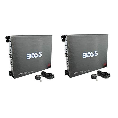 BOSS R3400D Riot 3400W Mono Block Class D Car Audio Power Amplifier (2 Pack)