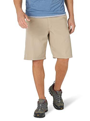 Wrangler Authentics Men's Side Elastic Utility Short, Desert Sand, 38