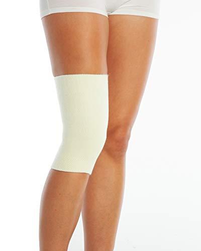 ArmoLine Medizinische Woll-Kniebandage für Arthritis, Arthritis und schmerzende Knie, thermischer Beinwärmer für Damen und Herren, 1 Stück (Medium)