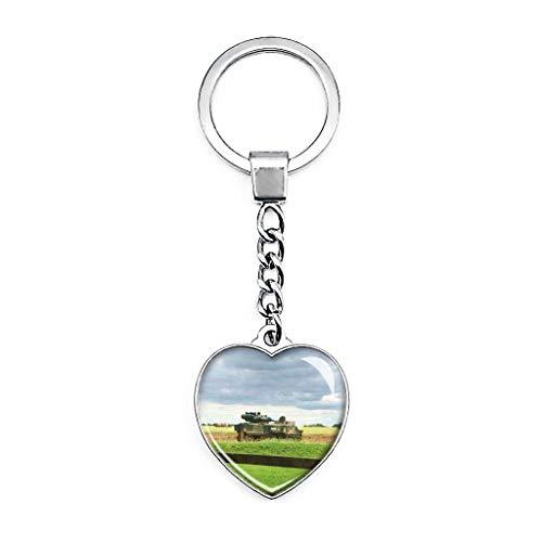 Llavero de metal con forma de corazón con diseño de Lutterworth de...