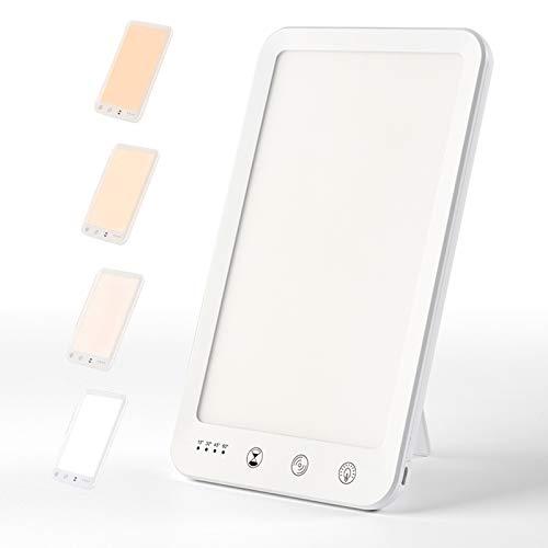 Tageslichtlampe, Gogotool 10000 LUX Lichttherapielampe mit Memoryfunktion Timer, Simuliertes Tageslicht, Lichtdusche mit 4 Lichtfarben und 5 Stufenhelligkeit, Touch-Steuerung LED Sonnenlicht