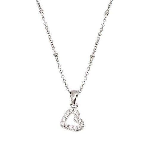 Collana Boccadamo Petit in argento con cuore pendente in zirconi