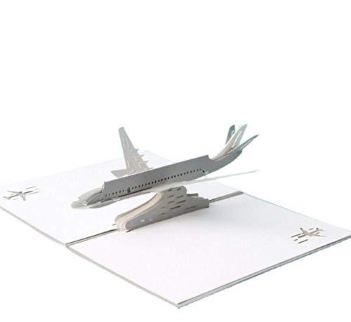 ANEWISH Biglietto di Auguri pop-up 3D con Aeromobili, Biglietto di Compleanno, Laurea, biglietto di Natale